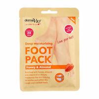 Derma V10 Deep Moisturising Foot Pack Honey & Almond 20 min Treatment