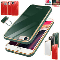 Fr iPhone SE 2020 7 8 Plus XR 11 Pro Max Luxury Glass Case Hard Shockproof Cover