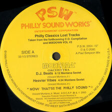 MONTANA ORCHESTRA - Philly Classics Lost Tracks Philly - Sound Works - PSW 2004