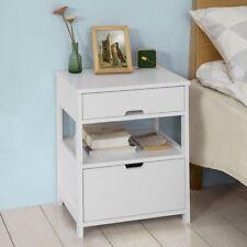 Sobuymesita de noche dormitorio mesa auxiliar con 2 cajones blanco Frg258-w es
