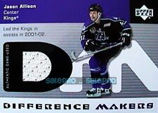 UPPER DECK 2002 JASON ALLISON NHL KINGS DIFFERENCE MAKERS GAME JERSEY #DMJA