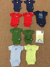 Baby Boy 12 Onesies PREOWNED Mixed Colors Short Sleeve 0-3 Months animals GERBER