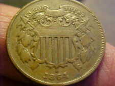 1864 TWO CENT PIECE XF ORIGINAL GREAT COIN