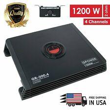 New Gravity 4 Channels 1200 WATTS  Class A/B Car Audio Stereo Amplifier |GR300.4