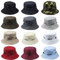 Fashion Men Women Bucket Boonie Fisherman Hat Fishing Hunting Cap Plain Solid