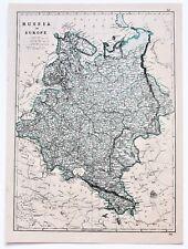 Moscow Russia Antique Original Antique Europe Maps & Atlases for ...