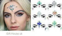 Face Gem Body Gems Glitter Stickers Tattoo Rhinestone Jewels Festival Party Mid