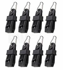 8Pc Heavy-Duty Tarp Clips w/ Carabiner - Sliding-Lock Grip - Quilt Hangers