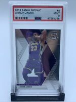 2019-20 Panini Mosaic LeBron James Base #8 PSA 9 LAKERS