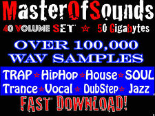 40 volume set of Universal Wav Loops + Samples 55 GIGABYTES of Rap EDM Trap SOUL
