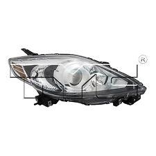 TYC 20-12023-91 Headlight Lamp Right Passenger Side RH Halogen Black Trim New