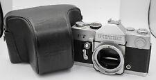 Petri FT 35mm Film FD Lens Mount SLR Camera Body Only - Chrome & Case