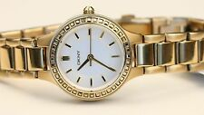 $155 DKNY Womens White Dial Yellow Gold-Tone Stainless Steel Watch NY2221