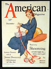 1930 American Magazine Cover Deco Lady or Parker Duofold Fountain Ink Pen Ad
