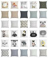 Animal Throw Pillow Cases Cushion Covers by Ambesonne Home Accent Decor 8 Sizes