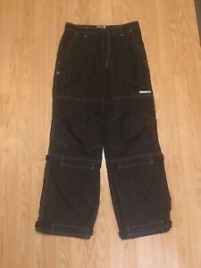 Vintage Men's PJ microfiber black M pants 32x32 Medium like jnco kikwear UFO