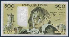 FRANCE - 500 FRANCS PASCAL Fayette n° 71.38 du 3-3-1988.A en NEUF N.270 65188