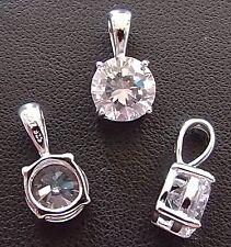 Echte Diamanten-Anhänger mit Smaragd