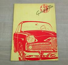 Edizione 12//1981 Manuale Libretto Uso e Manutenzione Alfa Romeo GIULIETTA