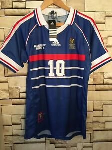 France Zidane 1998 Jersey France World Cup football soccer shirt gift for him