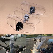 HotSale Adjustable Motorcycle ClipOn Windscreen Extension Spoiler Wind Deflector