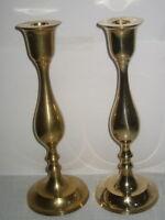 1 Paar Kerzenleuchter aus Messing Leuchter Kerzenhalter im Antik Stil Höhe 25cm