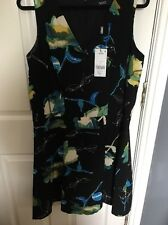 Black Next Floral Coloured Women's Size 14 Dress