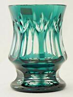 WMF Überfang-Becher Cristal Cabinet Lead Cristal Original Cut Grün Überfangen 1A