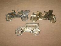 3 TIN METAL ANTIQUE OLD CAR WALL HANG DECORATION PLAQUES