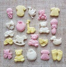 20 baby girl christening edible fondant cupcake toppers, Baby shower,Baptism