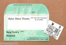 "Vivien Leigh ""DUEL OF ANGELS"" Mary Ure 1960 Broadway Envelope / Ticket Stub"