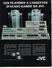 PUBLICITE ADVERTISING 044   1979    JVC   hi-fi platines à cassettes