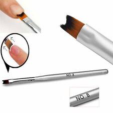 UV Gel Nail Art Pedicure Supplies Tools Pen Brushes Womens Makeup Polish Silver