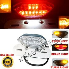 LED LICENSE PLATE MOUNT TURN SIGNALS TAIL BRAKE LIGHT for BOBBER CAFE RACER ATV