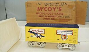 VINTAGE MCCOY 1981 TCA SPIRIT OF ST. LOUIS STANDARD GAUGE BOXCAR IN OB