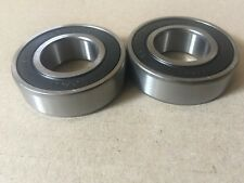 (2 each) 6205RS Sealed Bearings 25x52x15 mm