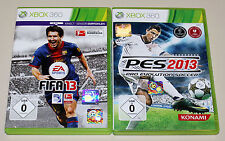 2 XBOX 360 SPIELE BUNDLE - PES & FIFA 2013 - FUSSBALL PRO EVOLUTION SOCCER 2015
