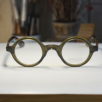 Retro Johnny Depp original glasses round olive frame tortoise arms rx eyeglasses