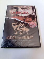 """DVD """"LA PISCINA / MUERTE DE UN CORRUPTO"""" 2DVD PRECINTADO ALAIN DELON JACKES DERA"""