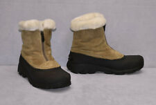 B2 Auth SOREL Thinsulate Snow Angel Zip Faux Fur Lining Boot Shoes Sz 9.5 $100