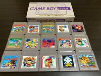 GameBoy Pocket console Gray Color with BOX and 15 Games