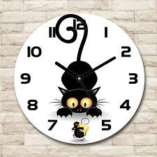 Tulup® Orologio Da Parete Vetro Decorazione fi 30 cm - Gatto E Topo