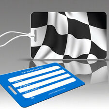 TagCrazy Racing Luggage Tags, Checkered Flag Design,Durable Plastic Loops-1 Pack