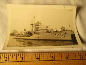 Vintage RPPC USS Ralph Talbot at dock