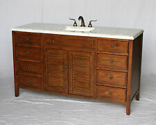 60-Inch Cottage Style Single Sink Bathroom Vanity Model 3328-60 Sa