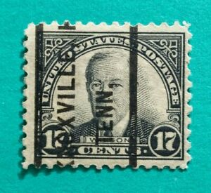 "17 cent US ""Wilson"" Knoxville TENN. Precancel Issue Stamp Used"