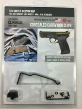 Clidraw Belt Clip S&W M&P Full Size / Compact 1.0 & 2.0 Models 9/40/45 IWB Black