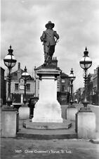 Oliver Cromwell Statue St Ives unused RP old pc Nene