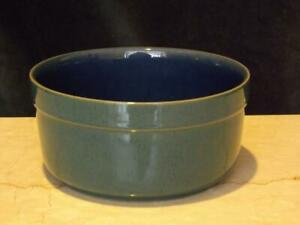 "Denby Harlequin 8"" Green Blue Souffle Handcrafted Dish Pot Speckled"