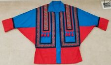Vintage Men'S Ethnic Tribal Clothing Textile Cotton Linen Tasseled Shirt